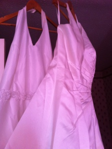 Finished dresses. Sadly poor picture quality.